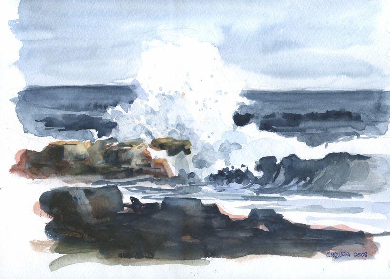 Christa Paul Painting Sea 1