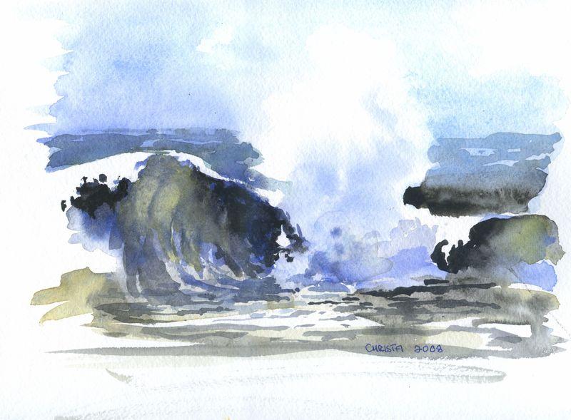 Christa Paul Painting Sea 2