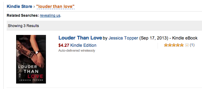 Louder than Love Kindle