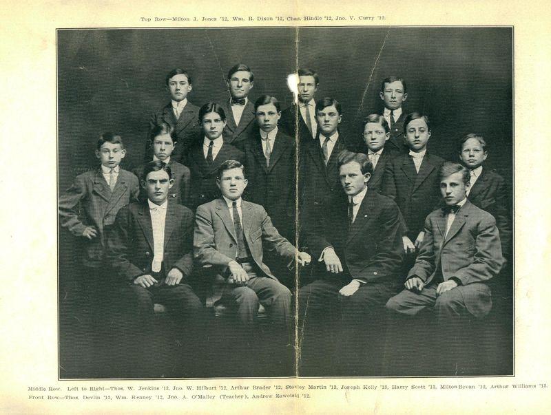 1910 Plains High School Group of Boys Photo W Names