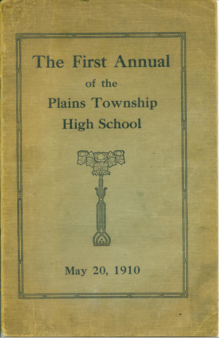 Plains PA High school yearbook cover 1910