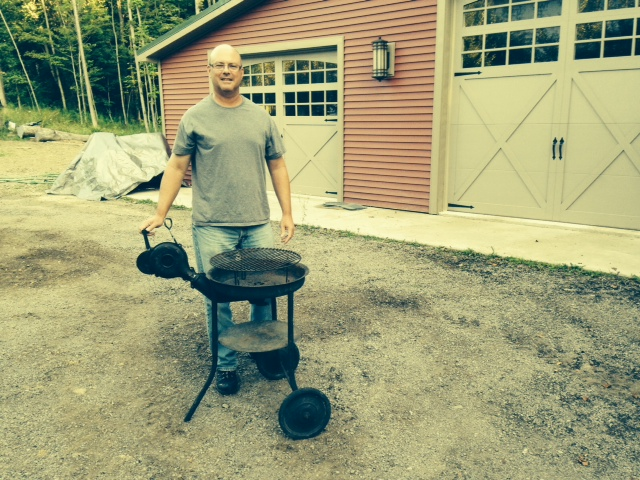 Adam Gibson's cousin Mark Conboy unrestored Buffalo Forge Grill