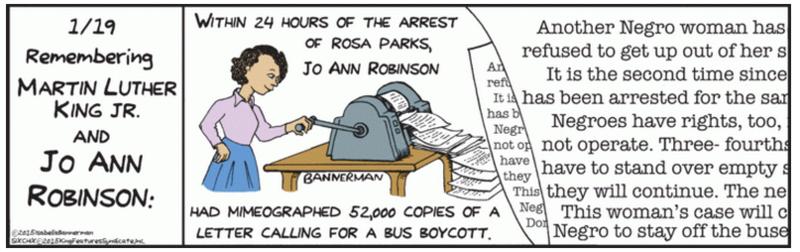 Jo Ann Robinson Cartoon Isabella Bannerman