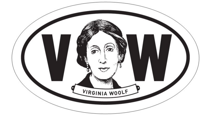 Virginia Woolf Oval BW