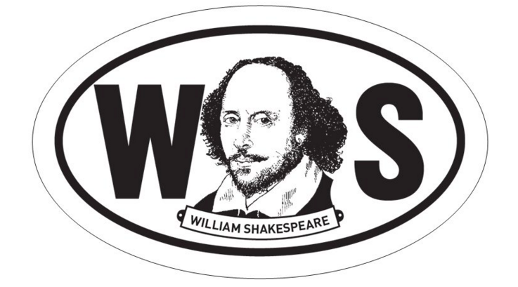 William Shakespeare Oval BW