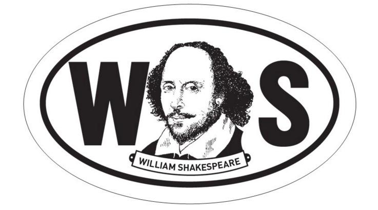 William Shakespeare Oval BW