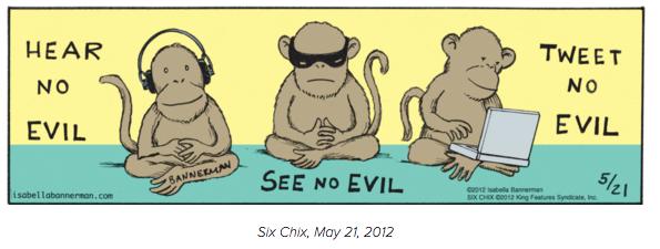 Bannerman Monkey Cartoon Six Chix