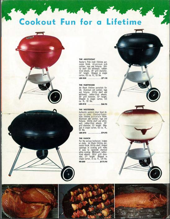 1964 weber grill catalog featuring the westerner jim. Black Bedroom Furniture Sets. Home Design Ideas