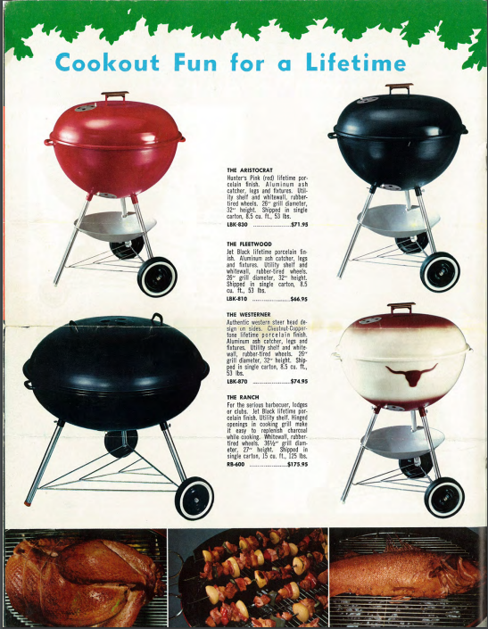 1964 Weber Grill Catalog Weber Kettle Club