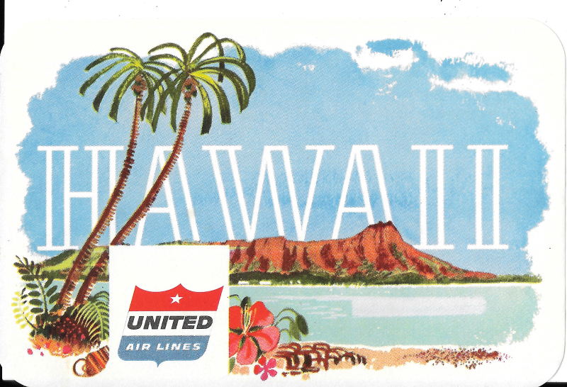 United Airlines Hawaii Sticker