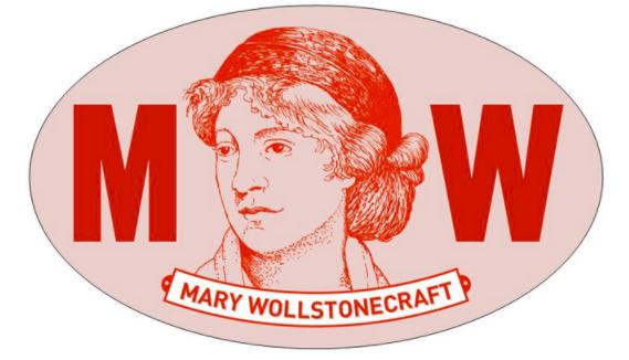 Mary Wollstonecraft sticker in color