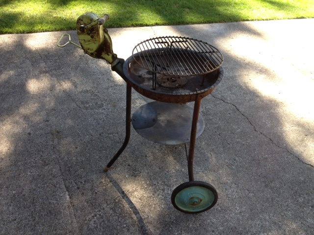 Adam Gibson Buffalo Forge grill Before