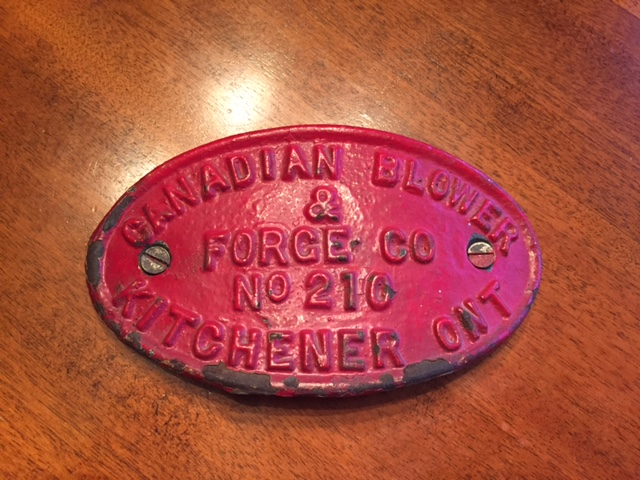 Adam Gibson Buffalo Forge Canada badge