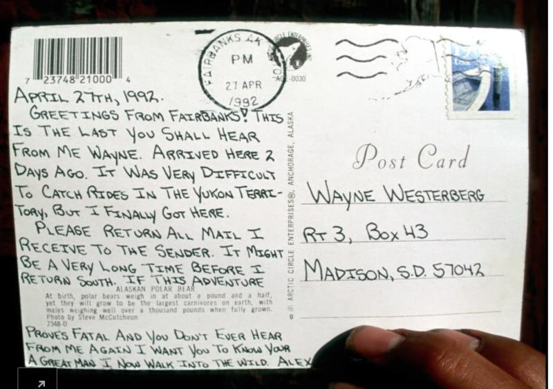 Chris McCandless last postcard_NYer