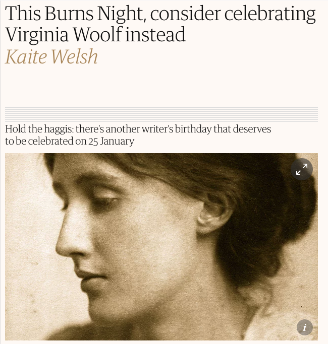 Virginia Woolf Guardian_Kaite Welsh