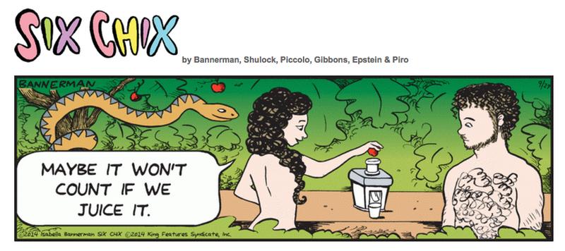 Isabella Bannerman Adam and Eve Cartoon Juicer