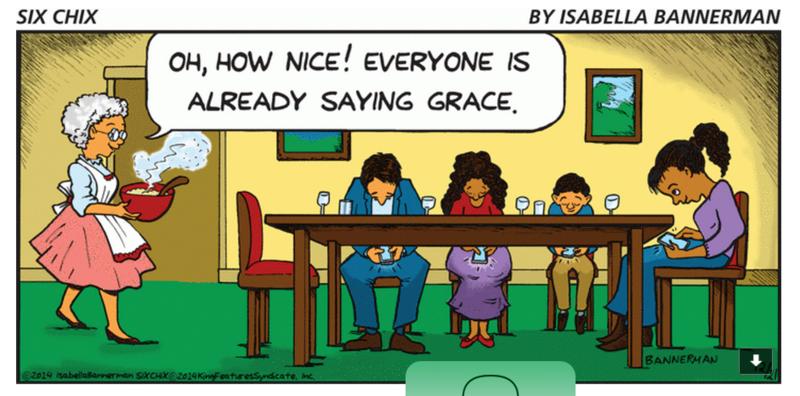 Isabella Bannerman Saying Grace Cartoon