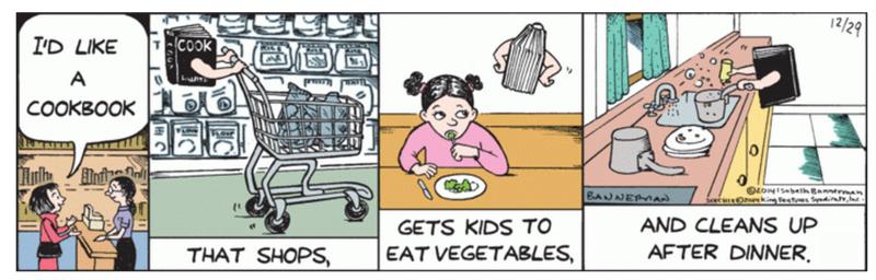 Bannerman Cookbook cartoon