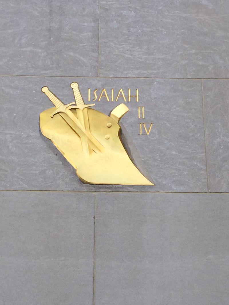 Rockefeller Center Isaiah II IV quote
