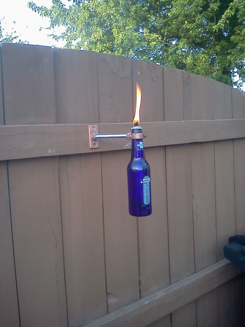 Beer Bottle Tiki Torch