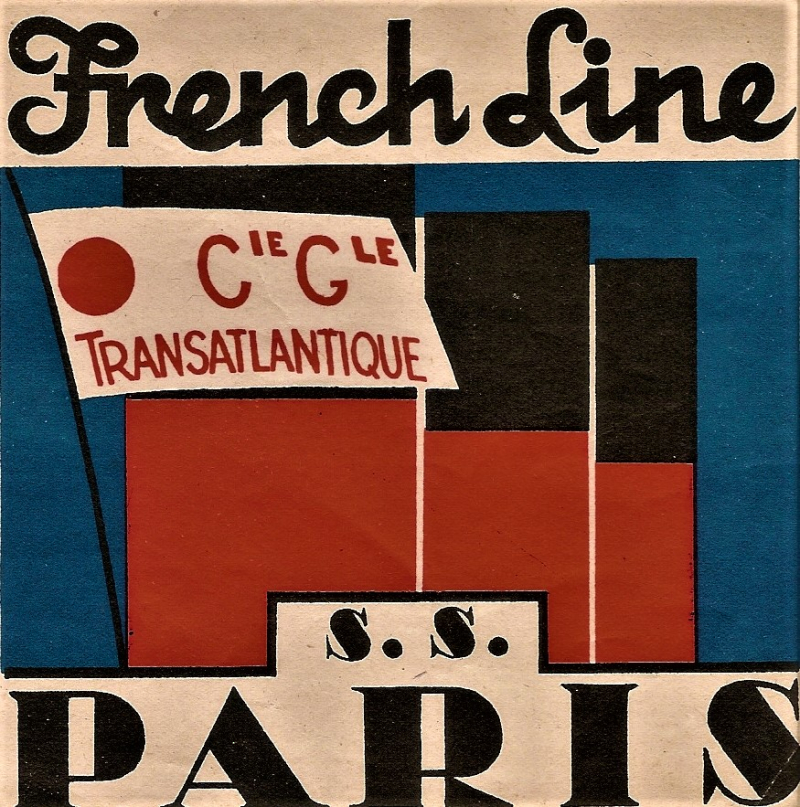 Franch Line Luggage Tag SS Paris