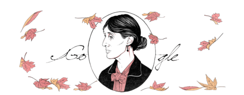 Virginia Woolf Birthday Google Doodle