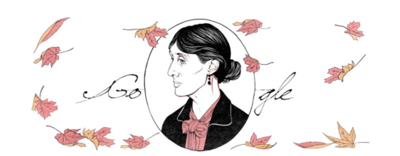 Virginia Woolf Birthday Google Doodle