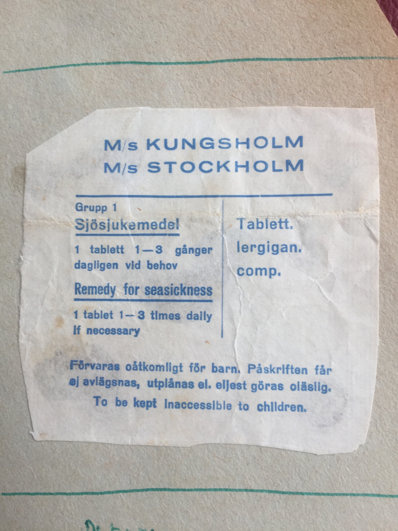 Seasickness Medicine directions