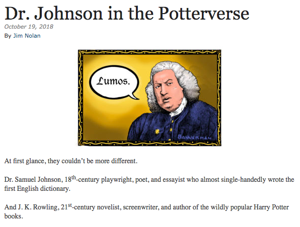 Dr.Johnson in the Potterverse