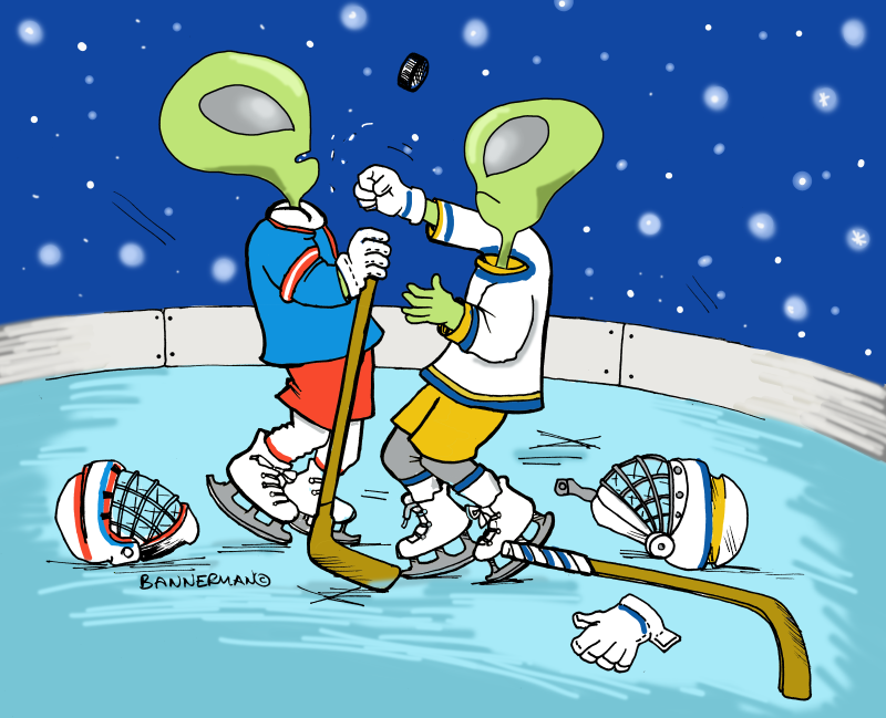 Alien Ice Hockey