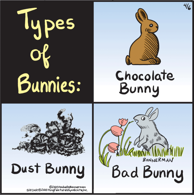 Easter cartoon bunny