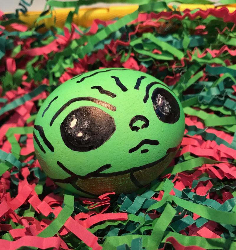 Baby Yoda Easter egg Mark Baldo photo