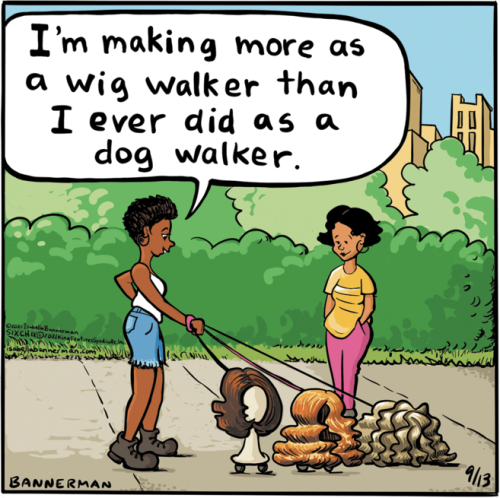 Wig walker cartoon Bannerman